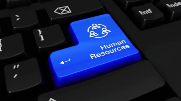 328. Human Resources Round Motion On Computer Keyboard Button.
