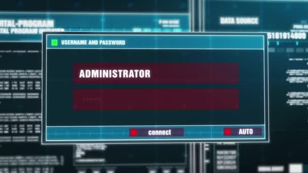 03. database Hacked notifica di avviso sulla sicurezza digitale avviso sullo schermo