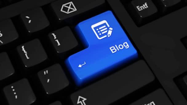 489. Blog rotační pohyb na tlačítko klávesnice počítače