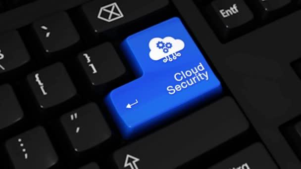 85. cloud Security rotační pohyb na tlačítko klávesnice počítače