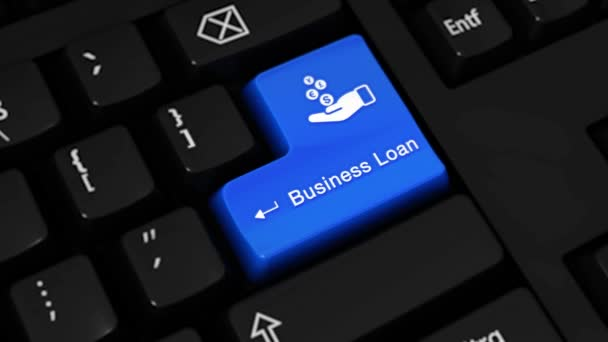 510. Business Loan Rotation Motion On Computer Keyboard Button.