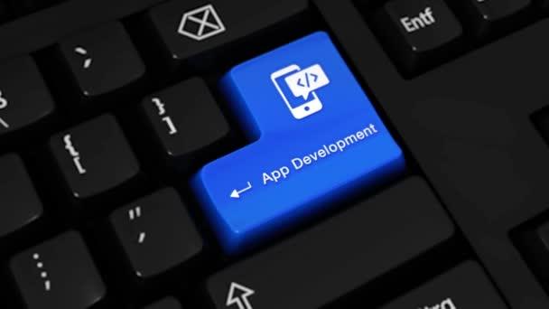 444. App-Entwicklung Drehbewegung auf Computer-Tastatur-Taste.