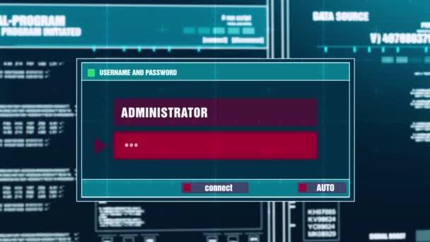 64. chybné heslo varovné upozornění na digitální bezpečnostní upozornění na obrazovce