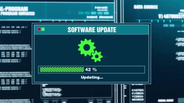95. software aggiornamento progressi avviso messaggio Aggiornamento completato avviso sullo schermo