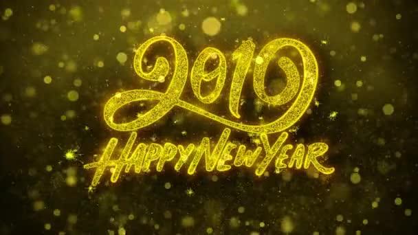 Frohes neues Jahr 2019 wünscht Glückwunschkarte, Einladung, Feuerwerk.