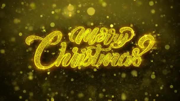 Veselé vánoční přání pozdravy karta, pozvání, oslavu ohňostroj smyčce.
