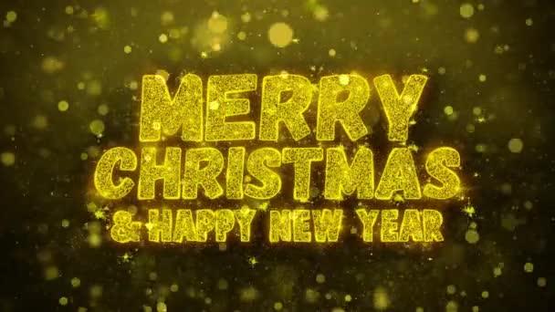 Veselé Vánoce a nový rok přání pozdravy karta, pozvání, oslavu ohňostroj smyčce
