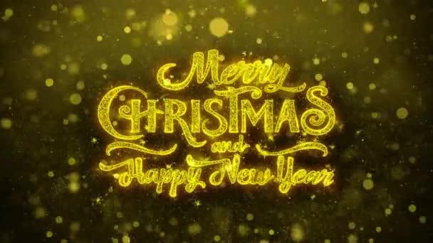 Veselé Vánoce a nový rok přání pozdravy karta, pozvání, ohňostroj smyčkou. 2