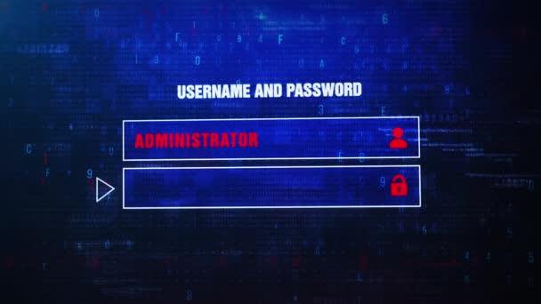 Database Attack Alert Warning Error Message Blinking on Screen .