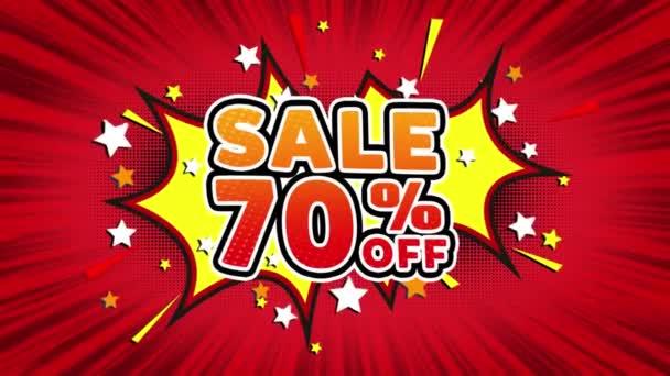Verkauf 70 off Wort Retro-Cartoon-Comic-Blasen Popup-Stil Illustration. farbige Bombenstreifen gepunktet und rote Geschwindigkeit radiale Linie nahtlose Schleife. schwarzer grüner Bildschirm 4k Doodle Hintergrund