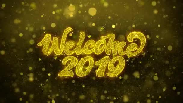 Vítá vás 2019 přání pozdravy karta, pozvání, oslavu ohňostroj