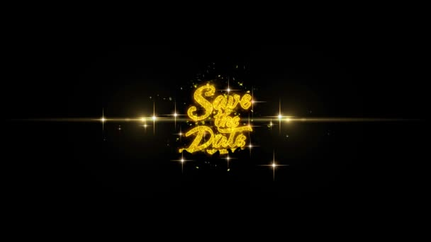 Uložit data zobrazovat blikající zlatý Text částice s zlaté ohňostroje 1