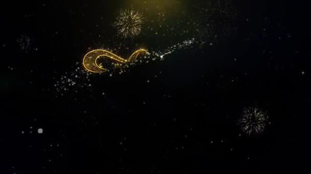 Danke geschriebene Goldpartikel explodierendes Feuerwerk