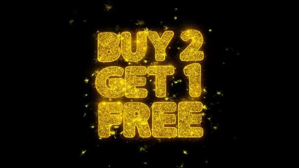 kaufen 2 erhalten 1 Gratis-Typografie mit Goldpartikeln Funken Feuerwerk geschrieben