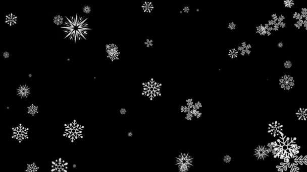 Szelíd karácsonyi reggel hó varrat nélküli hurok zöld képernyő élénkség