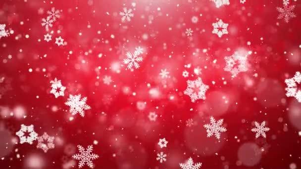Fiocchi di neve di Natale che cade su priorità bassa blu scuro