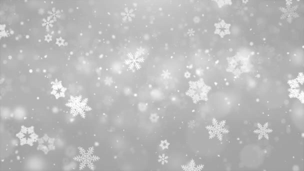 Karácsonyi hópelyhek alá sötét ezüst fehér háttér
