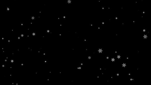 Lassú mozgás karácsony reggel hó - varrat nélküli hurok