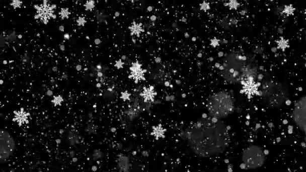 Hópelyhek a fehér háttér előtt. Téli, karácsonyi és újévi design