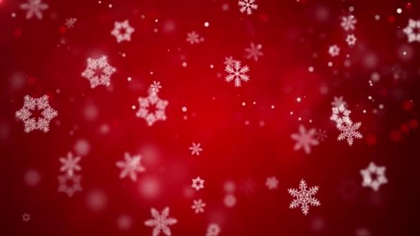 Loopable di Natale con fiocchi di neve cadere rossi bello