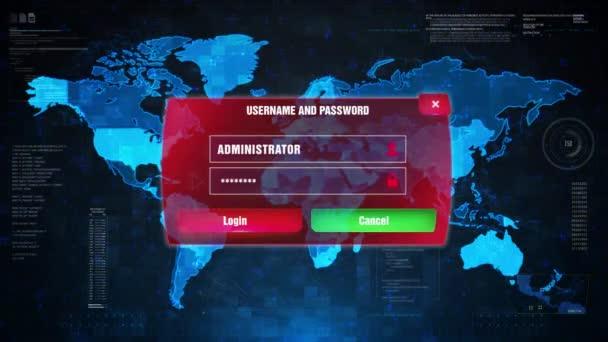 Magas Alert Alert figyelmeztetés támadás képernyő világtérképen.