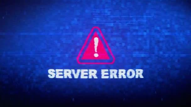 Server Error Text Digital Noise Twitch Glitch Distortion Effect Error Animation.