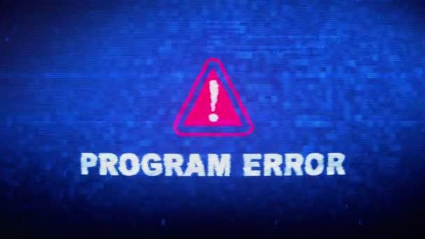 Program Error Text Digital Noise Twitch Glitch Distortion Effect Error Animation.