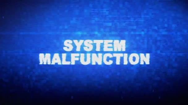ystem Malfunction Text Digital Noise Twitch Glitch Distortion Effect Error Animation.