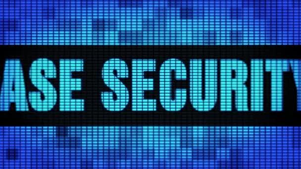 Datenbank Sicherheit Front Text Scrollen LED Wand Panel Anzeigetafel