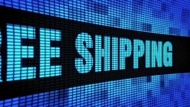 Volná lodní doprava postranní text s posunování LED stěna Pannel displej vývěska