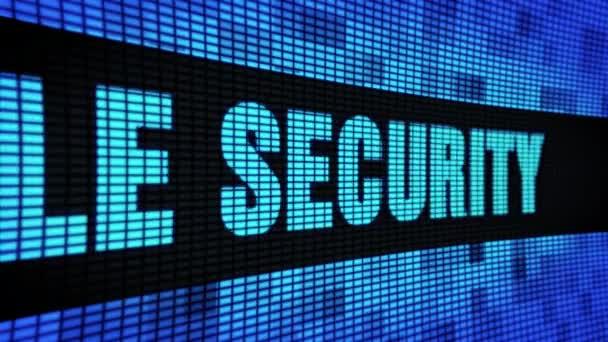 Datei Sicherheit Seite Text Scrollen LED Wand Panel Anzeigetafel