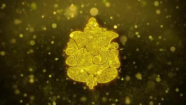 Diwali Lord Ganesh kívánság Üdvözlet kártya, meghívó, ünneplés tűzijáték