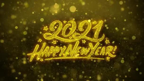 Šťastný nový rok 2021 přání blahopřání, pozvánka, oslava palby