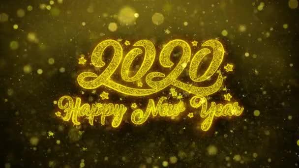 Šťastný nový rok 2020 přání blahopřání, pozvánka, oslava palby