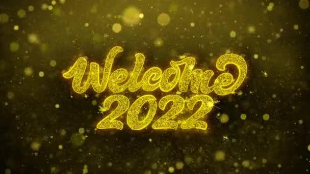 Vítejte 2022 přání blahopřání, pozvánka, oslava palby