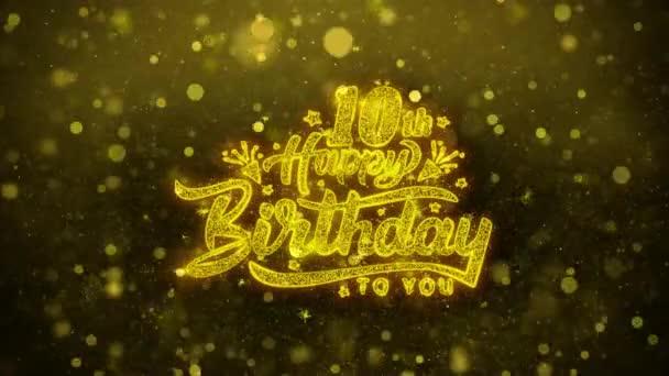10 šťastné narozeniny přání blahopřání, pozvánka, oslava palby
