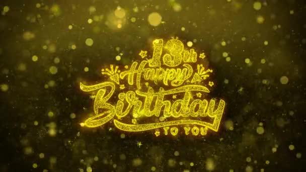13. Glückwunschkarte zum Geburtstag, Einladung, Festfeuerwerk