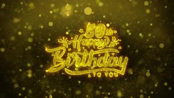 Glückwunschkarte zum 50. Geburtstag, Einladung, Festfeuerwerk