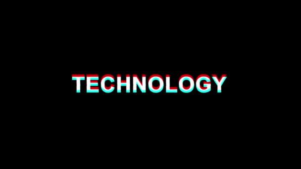 19. technology glitch effect text digital tv verzerrung 4k loop animation