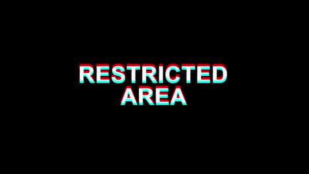 Beschränkter Bereich Glitch Effekt Text Digital TV Verzerrung 4k Loop Animation