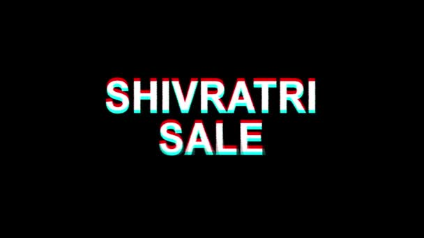 shivratri verkauf glitch effekt text digital tv verzerrung 4k loop animation