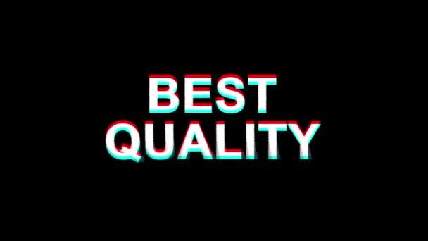Kvalita efektu, text digitální TV deformace 4k animační smyčka