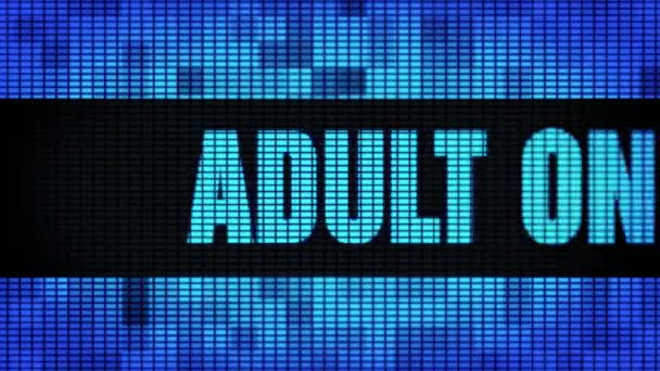 Adult Only Front Text Scrolling LED Wall Pannel Display Sign Board