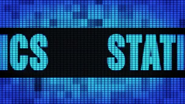 Statistics Front Text Scrolling LED Wall Pannel Display Sign Board