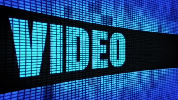 Video Side Text Scrolling LED Wall Pannel Display Sign Board