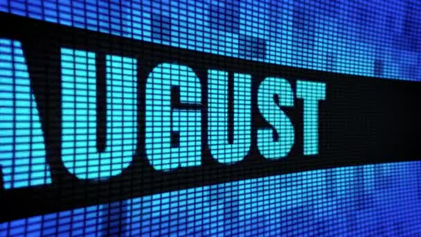 august side text scrolling led wall pannel display display board