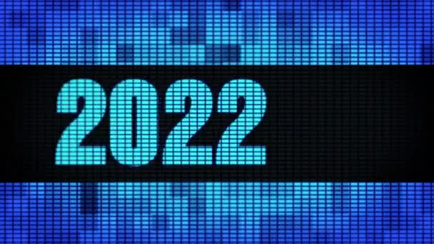 Új év 2022 eleje szöveg tekerő vezetett fal pannel kijelző előlap