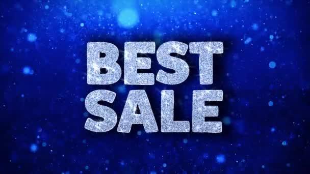 bester Verkauf blauer Text wünscht Teilchen Grüße, Einladung, Feier Hintergrund
