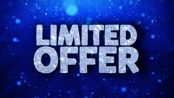 Limited Offer Blue Text Wishes Particles Greetings, Invitation, Celebration Background