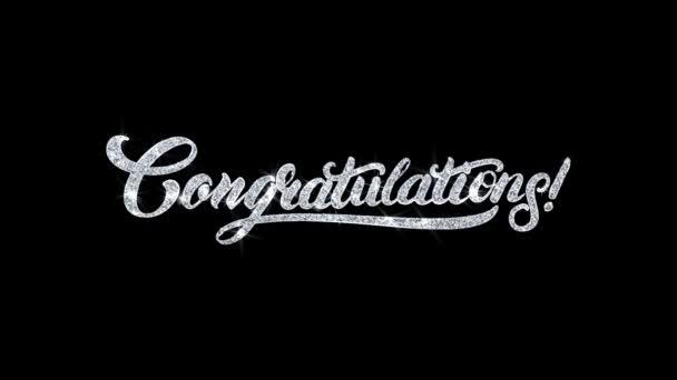 Glückwunsch blinkender Text Wünsche Teilchen Grüße, Einladung, Feier Hintergrund